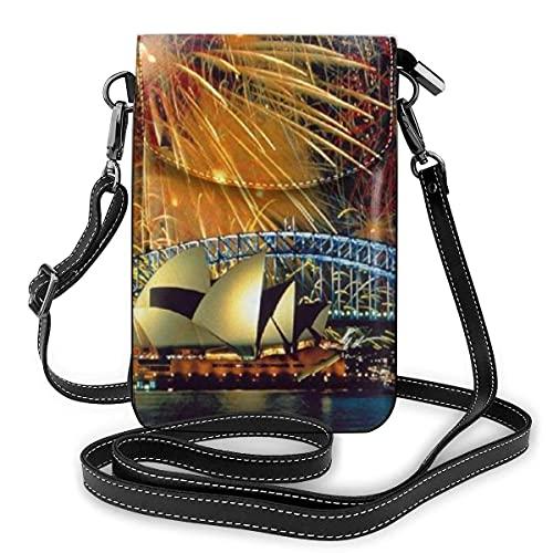 Sydney Opera House - Bolso de hombro multiusos para teléfono celular, diseño de fuegos artificiales