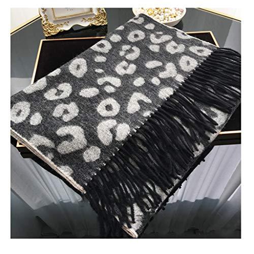 Xu Yuan Jia-Shop Moda Bufanda Chal Otoño de la Mujer y la Bufanda del Invierno Leopard Moda Imprimir Pura Lana Gruesas del mantón Bufanda Caliente Regalos for Damas Bufanda acogedora (Color : B)