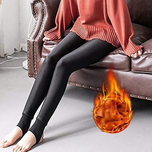 GDRFHJZ nieuwe wintermode zwart hoge taille binnen plus gouden velvet elastisch grote dikke warme leggings vrouwen