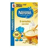 Nestlé Papillas 8 Cereales con Miel, A Partir de 6 Meses, 900g
