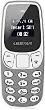 L8star BM10 Worlds Smallest Phone 2 in 1 Mini Phone Unlocked GSM with Hands Free Bluetooth Dialer Bluetooth Headphone Dual SIM Card GSM (Gray)