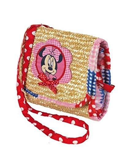 Disney Natural Minnie 275X250X50 100% Paille Naturelle Paille épaule Sac à bandoulière Sac