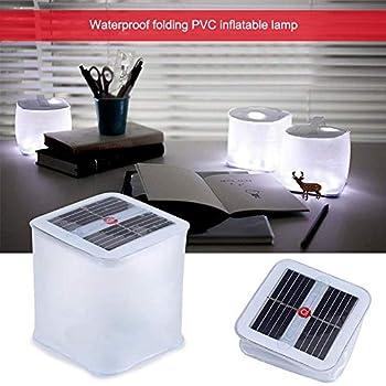 Womdee Lanterne Solaire Gonflable,3 Modes IP67 Imperméable Lanterne de Camping Lanterne à Cube à énergie Solaire à 10 LED Lumière de Camping d'urgence en Plein Air