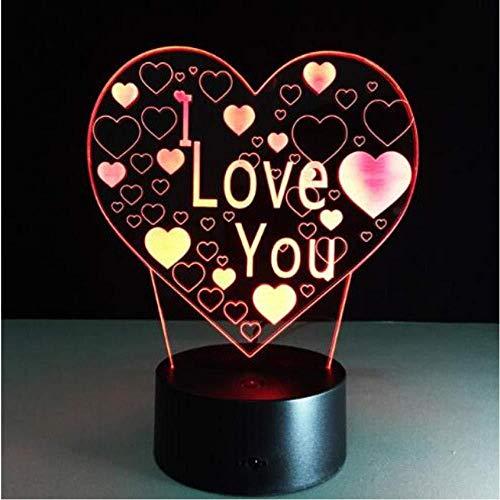 Lámpara de mesilla Lámpara de ilusión 3D Lámpara de flor rosada 3D Lámpara de 7 colores Cambio de recuerdo Regalo de San Valentín Hermoso regalo de cumpleaños para mayo Escritorio del día de