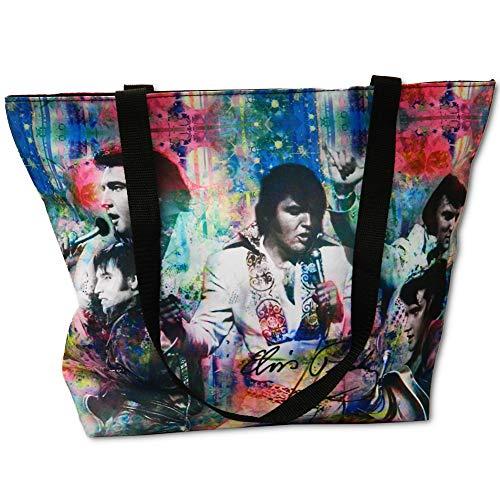 Elvis Presley Tragetasche Collage, mehrfarbig, groß