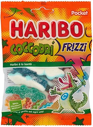 Haribo Coccodrì Frizzi Caramelle Gommose Morbide - party feste candy - confezioni da 100gr (6 confezioni)