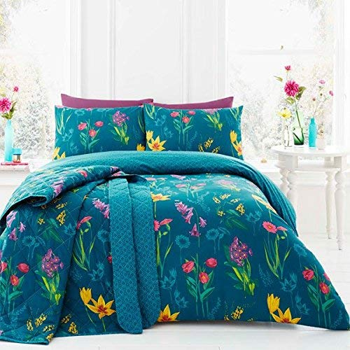 Dreams & Drapes - Ingrid - Easy Care Duvet Cover Set - Double, Teal