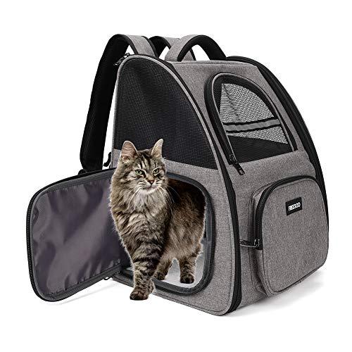 FREESOO Transportin Gato Mochilas para Gatos y Perro Bolsa para Mascotas Transporte...