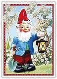 Edition Tausendschön Gartenzwerg mit Lampe PK502 Größe: 10,5x15 cm