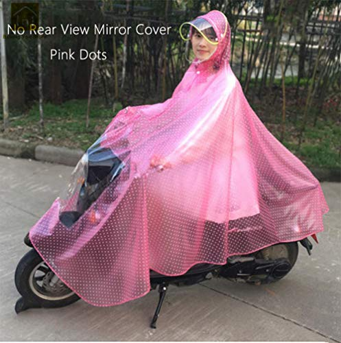 SHUHANX Poncho Impermeable Impermeable con Capucha Larga Mujer Impermeable Impermeable Moto Impermeable Transparente Moto Lluvia Poncho Bike