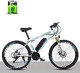 Bicicleta Eléctrica Bicicleta eléctrica de bicicleta de litio eléctrico de 26 pulgadas, motor 36V250W / bicicleta eléctrica de batería de litio 10Ah, 27 velocidades masculina y femenina adultos de la