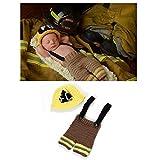 Tbslee Baby Fotografie Outfit, Handgemachte Feuerwehr Baby Fotografie Requisiten