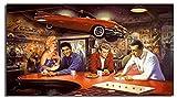 ggggx Puzzle 1000 Piezas de Madera Marilyn Monroe Elvis Presley póster de Madera Juego de descompresión de Juguetes para Adultos 52 * 38 cm