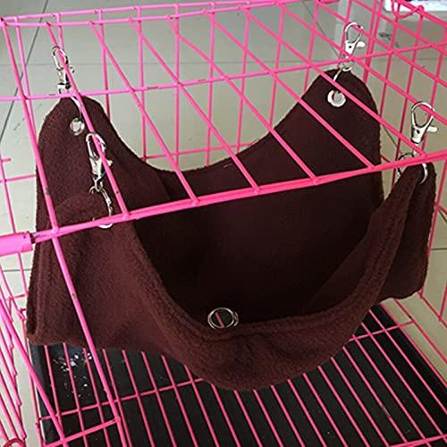 QAZPL Pequeños suministros para mascotas gato cama colgante con gancho polar mascota hamaca jaula hámster casa de conejillo de indias conejo caliente dormir nido columpio