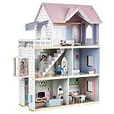 Goli Wooden Dollhouse Toys w/Elevator, Doorbell, Light,...