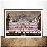 wzgsffs Clásico The Grand Budapest Hotel Póster De Película E Impresiones Arte De Pared Impresión En Lienzo para Sala De Estar Dormitorio En Casa-24X35 Pulgadas X 1 Sin Marco