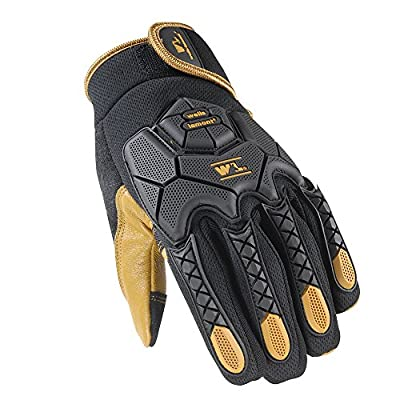 Wells Lamont Hi-Dexterity Mechanic Gloves, Heavy Duty Impact Protection, Reinforced Leather Palm