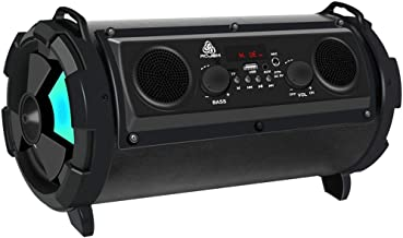 Outdoor Portable Bluetooth Speaker 15W Subwoofer Multi-Function Card Radio Audio (Color : Black) photo