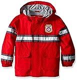 Carter's Boys' Toddler Fireman Raincoat Slicker, Red, 3T