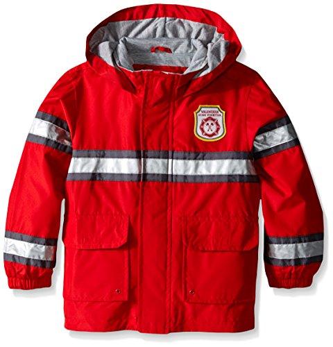 Carter's Boys' Toddler Fireman Raincoat Slicker, Red, 4T