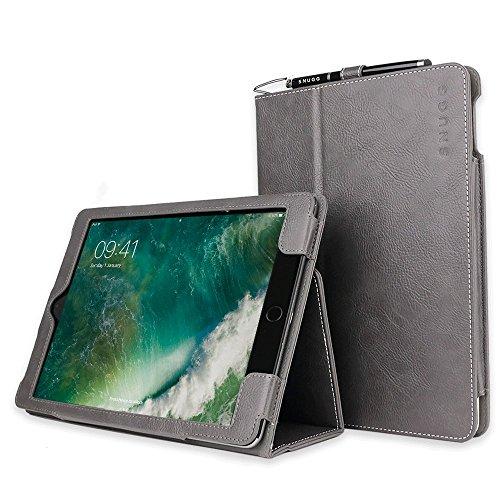 Snugg iPad Air 2 (2014)Schutzhülle, Leder Schutz Klapphülle Hülle Cover Ständer für Apple iPad - Schiefergrau