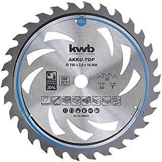 kwb 586554 Energy-Saving cirkelsågblad Easy Cut, Ø 190 x 16 mm tunt snitt med special-växeltand 30 tänder Z30, AKKU TOP tu...