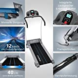 Kinetic Sports Laufband, Leiser 1100 W Elektromotor, mit Trainingscomputer, 2 Getränkehalter, Zusammenklappbar - 3