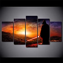 XIAOAGIAO 5 Canvas Painting Wall Art Modular Pictures Home Canvas Poster 5 Panel Movie Star War Painting Frame HD Prints Modern Living Room Home Decor Paintings on Canvas