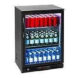 Royal Catering RCGK-138C Nevera Expositora Frigorifico Minibar Nevera Pequeña Bebidas Botellas Refrigerador (138 L, 2–10 °C, 135 W,...