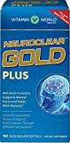 Vitamin World NeuroClear Gold Plus | Rapid Release Brain Support Supplement feat. Phosphatidylserine | Supports Memory & Focus for Overall Mental Health & Function, 180 Softgels