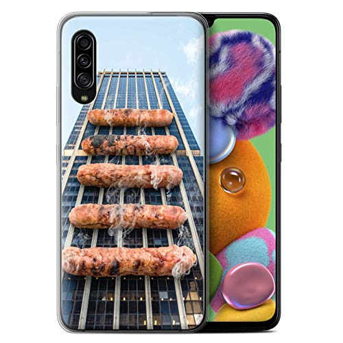 Stuff4 Coque Gel TPU de Coque pour Samsung Galaxy A90 5G 2019 / Barbecue/BBQ Design/vers Bas sous Collection