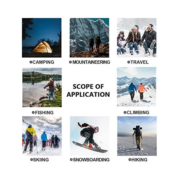 Hubunucc Men's Hiking Softshell Fleece Lined Waterproof Windproof Outdoor Mountain Ski Insulated Pants