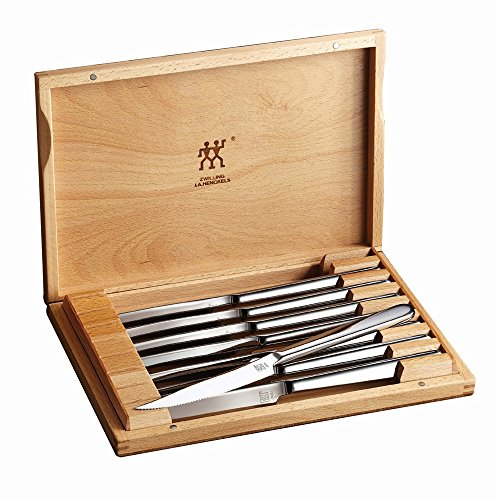 ZWILLING J.A. Henckels 39130-850 Zwilling Accessories Steak Knife Set, 2.3, Stainless Steel