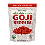 Wholeberry organic wolfberry gouqi Goji berries 16oz| Raw, Vegan, Gluten Free Super food High in...