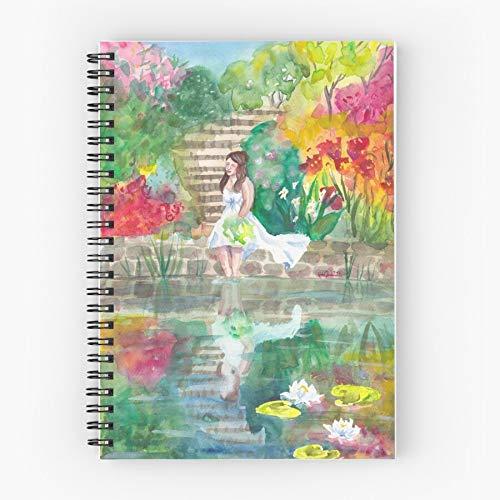 Landscape Colors Flowers Garden Woman Colours Nature Bride Bright Pond Botanical Portrait Borsa in cotone Tote | Borse spesa in tela Borse shopping con manici in cotone resistente