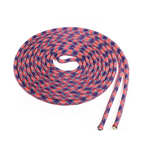 Atwood Rope MFG Double Dutch Jump Rope - 3/8 Inch - 18 Feet - Kids Adults (Purple Checker with Teal Tracer, Single 18ft Rope)