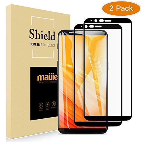 MAIJIE Panzerglas Schutzfolie für OnePlus 5T[2 Stück],2.5D Vollständige Abdeckung Displayschutzfolie mit 9H Härte,hoher Empfindlichkeit,Anti-Kratzen,Anti-Fingerabdruck,Anti-Öl,HD Ultra Klar,Blasenfrei