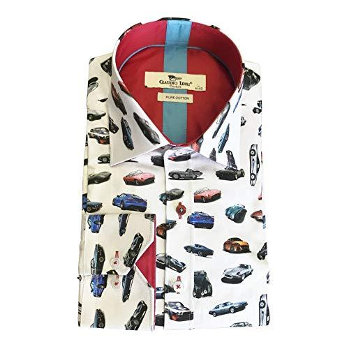 La chemise à manches longues imprimée des automobiles Jaguar