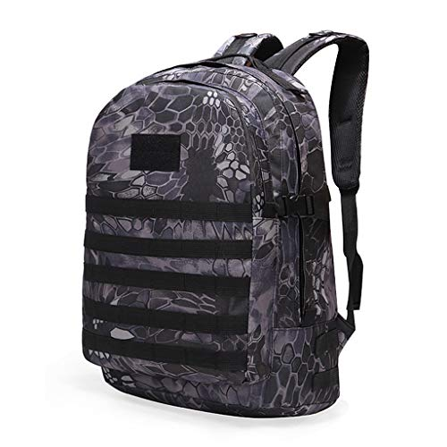 YHHX Oxford Cloth Backpack, 3D Backpack Outdoor Adventure Tactical Camouflage Backpack Outdoor Waterproof Backpack Retro Backpack Camouflage Tactical