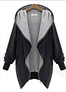 Howely Women's Hooded Outwear Jacket Casual Mid-Length Loose Coat Jacket