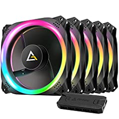 Package included: Individually adressable RGB Case Fan 120mm x 5, Control Hub x1 Convex designed dual addressable RGB ring offered best lighting effect: convex design kept RGB lighting effect at a optimal point and left tolerance for other RGB compon...