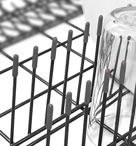 100x Premium Spülmaschinen-Gestell-Abdeckkappen für alle Geschirrkörbe | starker Rost Schutz | grau | 1 Jahr Garantie (100 Stück)