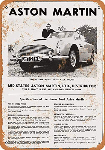 1966 James Bond Aston Martin Metalen bord Grappige Tin Poster Muurdecoratie