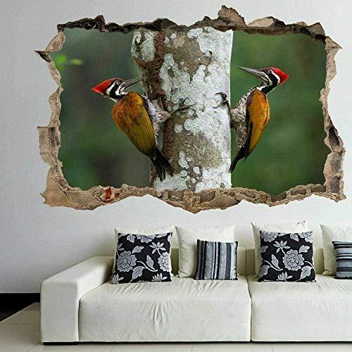 MXLYR Wandtattoo Bird 3D Wall Art Sticker Mural Decal Poster Children Room Home Decoration