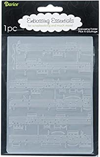 Darice Embossing Folder, 4.25 by 5.75-Inch, Sheet Music