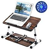 newoer Ultra Large Adjustable Laptop Bed Table Desk, Portable Standing Foldable Breakfast Tray, Kids Reading...