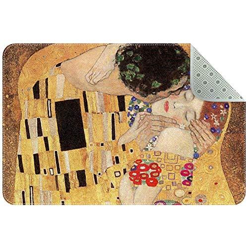 Lorvies Gustav Klimt Teppich/Teppich, rutschfest, für Wohnzimmer, Schlafzimmer, 61 x 40,6 cm, Polyester, multi, 80x50xm/31x20in
