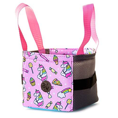 BAMBINIWELT Musikbox-Tasche, Transporttasche für Hörwürfel z.B. Toniebox und Tigerbox Touch, Halterung für Tonies,KLEIN (Modell 20)