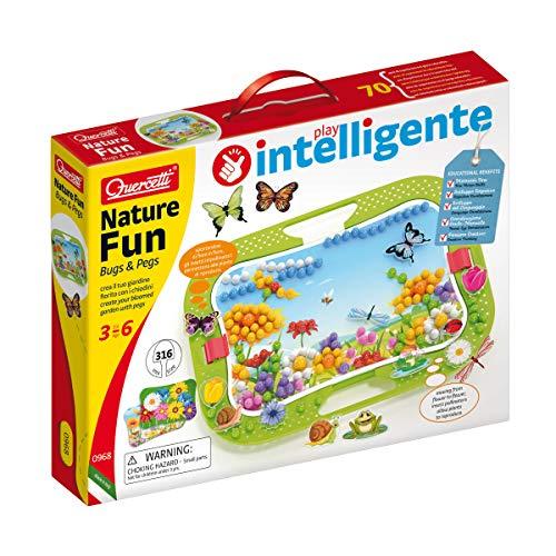 Quercetti - 0968 Nature Fun Bugs & Pegs, chiodini per bambini