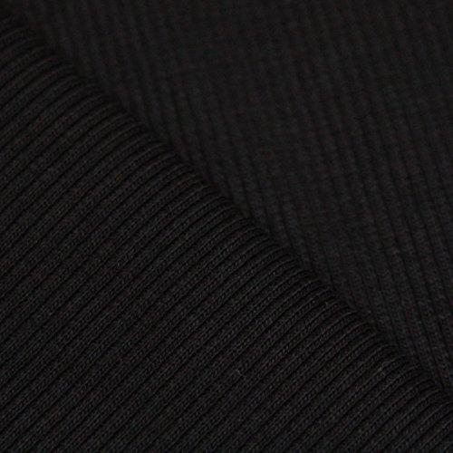 Neumann Handelsvertrieb Strickbund Bündchenstoff RIPP Schlauchware 100 cm breit Baumwollbündchen (Länge: 100 cm, Schwarz)